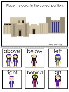 Queen Esther Positional Game printable game. Preschool Bible Study Curriculum.