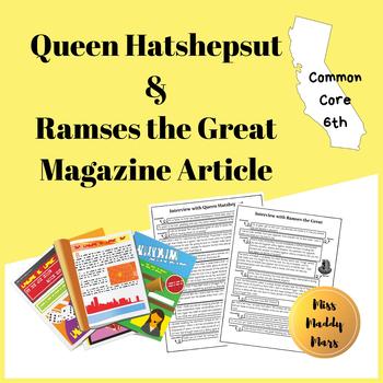 Queen Hatshepsut + Ramses the Great Magazine Article Journalist Project