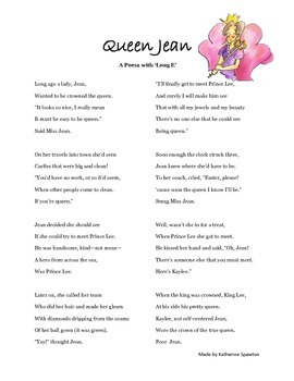 """""""Queen Jean"""": A Poem with Long E"""