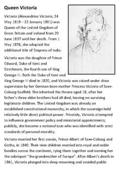Queen Victoria Handout