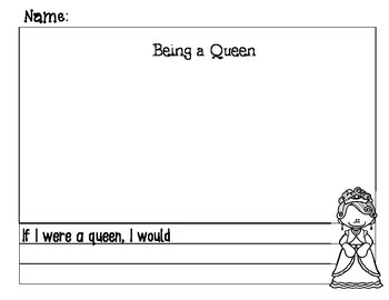 Queen and King Writing Book