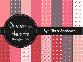 Valentine Hearts Digital Paper Backgrounds {FREE}