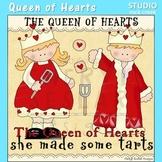 Queen of Hearts Nursery Rhyme Clip Art C Seslar