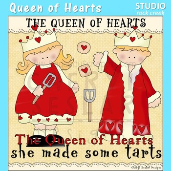 Queen of Hearts Nursery Rhyme Clip Art C Seslar