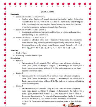 Queen of Hearts Fractions
