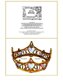 Queen of Hearts Gold Crown Tiara Bold 5x7 folded card prin