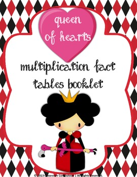 Queen of Hearts Multiplication Booklet Facts 0-12