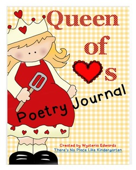 Queen of Hearts Nursery Rhyme Poetry Journal