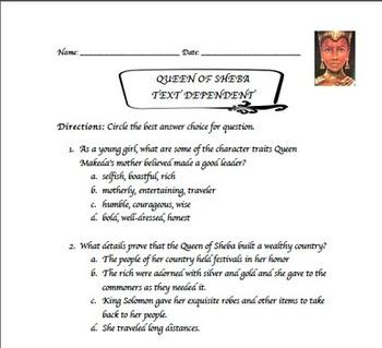 Queen of Sheba Lesson Plan and Prezi