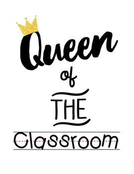 Queen of the Class Little Bird Kindergarten Printshop