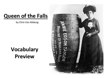 Queen of the Falls Vocabulary Preview Slideshow