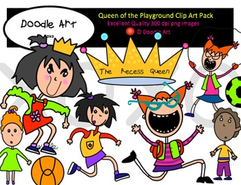 Queen of the Playground Clipart Pack