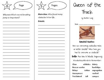 Queen of the Track Trifold - Open Court 5th Grade Unit 1 Lesson 2
