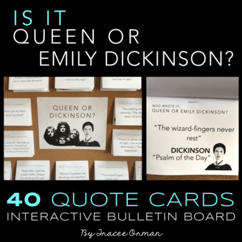 Queen or Emily Dickinson Poetry Interactive Bulletin Board & Activities