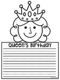 Queen's Birthday No Prep Writing Craft Activity