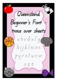 Queensland Beginner's Font Trace Over Mats