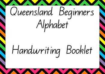 Queensland Beginners Alphabet Handwriting Pack