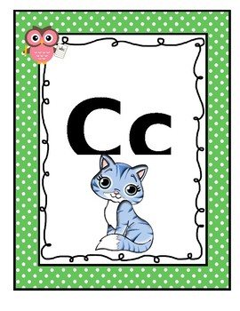 #AUSBTS18 Queensland Beginners Alphabet Posters Polka dot + Owl theme