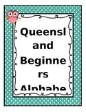 #AUSBTS18 Queensland Beginners Alphabet Posters Polka dot