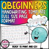 Queensland Beginners, Handwriting Template, Simplified wit
