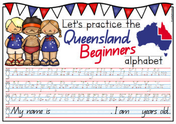 Queensland Beginners Handwriting Templates MEGA BUNDLE - 10 PRODUCTS-IN-1