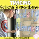 QUEENSLAND Write & Wipe Alphabet and Numbers Set - PRINT & PRE-CURSIVE BUNDLE