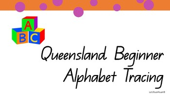 Queensland Beginning Font Alphabet Tracing
