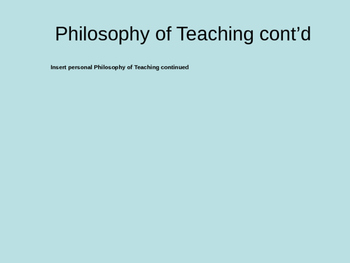 Queensland College of Teachers Portfolio