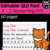 Queensland Font Handwriting PowerPoint