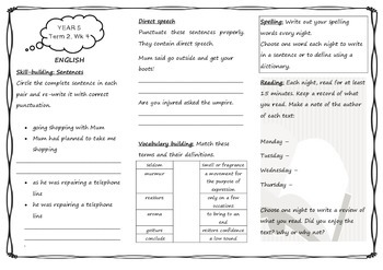 Queensland Homework Year 5 Unit 3 Week 4