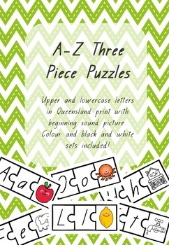Queensland Print A-Z Three Piece Puzzles