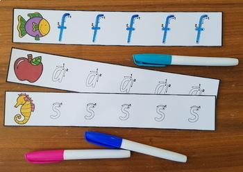 Queensland Print Lowercase Letter Tracing Strips!