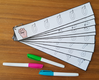 Queensland Print Handwriting Cards {Numbers 0-9}