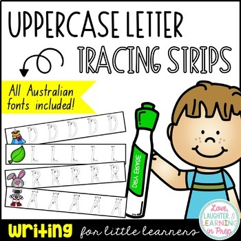 Queensland Print Uppercase Letter Tracing Strips!