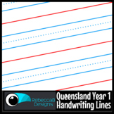 Queensland Year 1 Handwriting Lines Clip Art