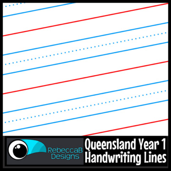 Queensland Year 1 Handwriting Lines Clip Art