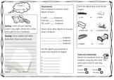 Queensland Year 1 Homework for Unit 5