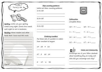 Queensland Year 1 Homework for Unit 6