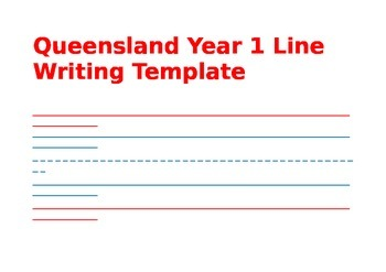 writing lines template