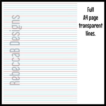 Queensland Year 2 Handwriting Lines Clip Art