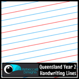 Queensland Year 2 Handwriting Lines Clip Art