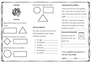 Queensland Year 3 Homework Unit 3 Weeks 4 & 5