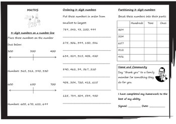 Queensland Year 3 Homework for Unit 3 (Weeks 1 - 3 only)