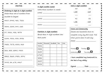 Queensland Year 3 Homework for Unit 5
