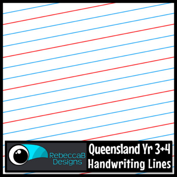 Queensland Year 3 and 4 Handwriting Lines Clip Art