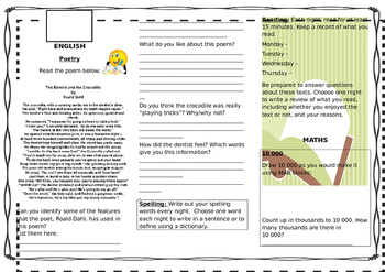 Queensland Year 4 Homework Sheets for Unit 2