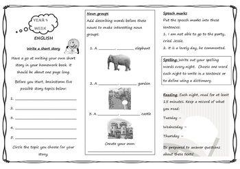 Queensland Year 4 Homework Whole Year Set in PDF