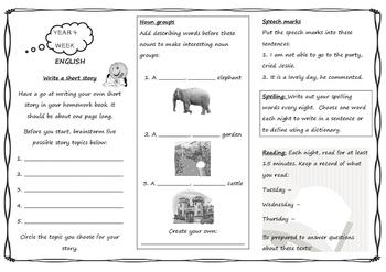 Queensland Year 4 Homework Whole Year Set in PDF