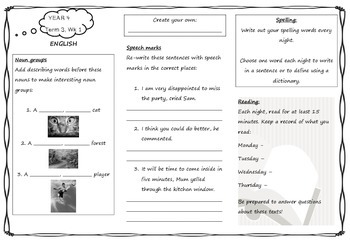homework for year 4