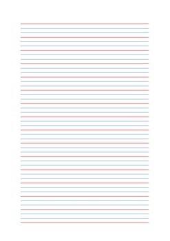 Queensland handwriting lines